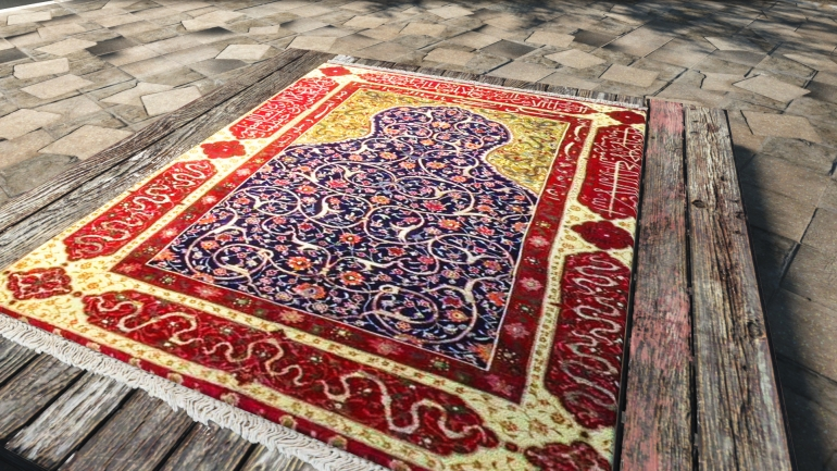 Reserving place in Masjid with prayer mat or scarf