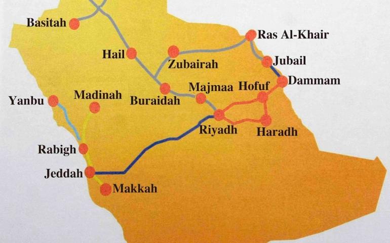 London to Jeddah via Riyadh